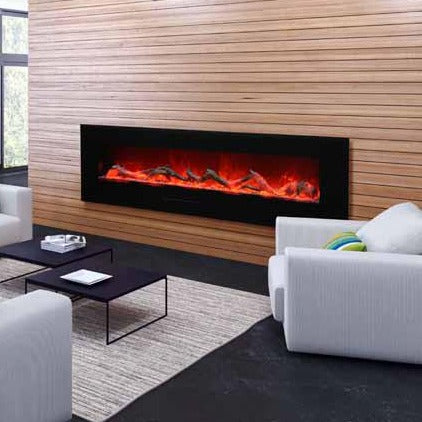 Amantii 72-Inch Wall Mount or Flush Mount Electric Fireplace, Electric Flames | Very Good Fireplaces