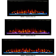 "Load image into Gallery viewer, Touchstone Sideline Elite Recessed Electric Fireplace available in 50"", 60"", and 72""."