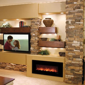 "Modern Flames 43"" Fantastic Flame No Heat Recessed Fireplace - Contemporary Designs for Modern Aesthetics"
