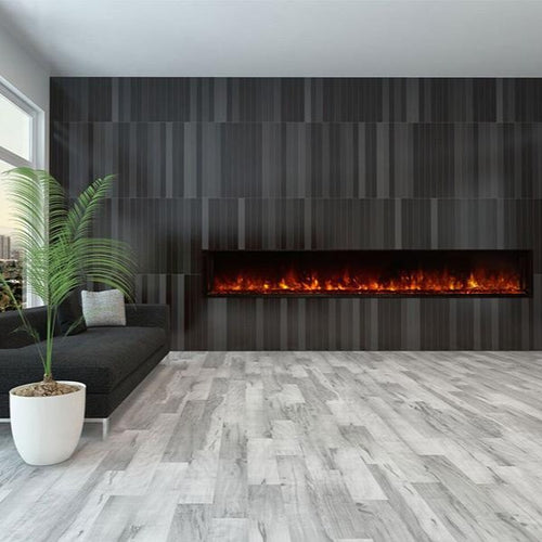 Contemporary Living Room with Modern Flames 100