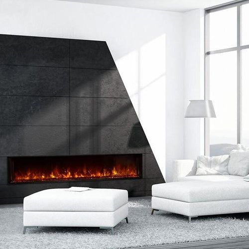 Comfy Minimalist Living Room with Modern Electric Fireplace | Modern Flames 80
