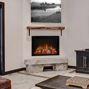 "Modern Flames Redstone Fireplace - 26"" Built-In Electric Fireplace - insert style - Very Good Fireplaces"