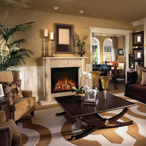 "Modern Flames Redstone Fireplace - 26"" Built-In Electric Fireplace - insert style in living room-  Very Good Fireplaces"