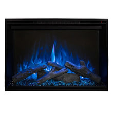 "Load image into Gallery viewer, Modern Flames Redstone Fireplace - 26"" Built-In Electric Fireplace - blue flame blue ember option - Very Good Fireplaces"