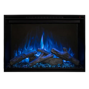 "Modern Flames Redstone Fireplace - 26"" Built-In Electric Fireplace - blue flame blue ember option - Very Good Fireplaces"