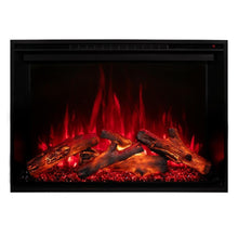 "Load image into Gallery viewer, Modern Flames Redstone Fireplace - 26"" Built-In Electric Fireplace - red flame red ember option - Very Good Fireplaces"