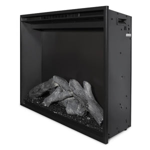 "Modern Flames Redstone Fireplace - 26"" Built-In Electric Fireplace - close up side angle - Very Good Fireplaces"