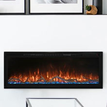 "Load image into Gallery viewer, Modern Flames 50"" Spectrum Slimline Wall Mount or Recessed Electric Fireplace"