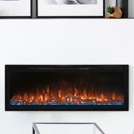 White wall mounted electric fireplace - Modern Flames 50
