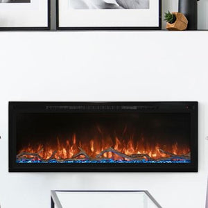 Modern Flames 74-Inch Spectrum Slimline Wall Mount or Recessed Electric Fireplace | Very Good Fireplaces