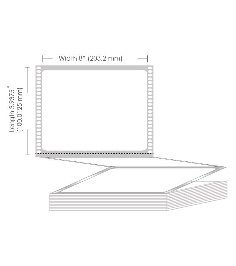 "8"" x 3.9375"" Gloss Paper Label - 2550 Labels"