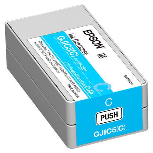 Epson GP-C831 ColorWorks Cyan Ink Cartridge, GJIC5(C)
