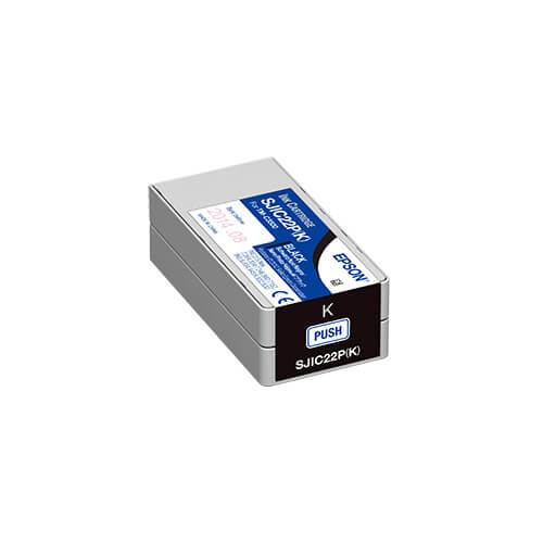 Epson TM-C3500 ColorWorks Black Ink Cartridge, SJIC22P(K)