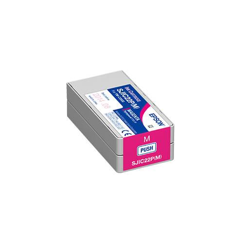 Epson TM-C3500 ColorWorks Magenta Ink Cartridge, SJIC22P(M)