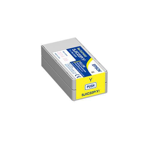 Epson TM-C3500 ColorWorks Yellow Ink Cartridge, SJIC22P(Y)