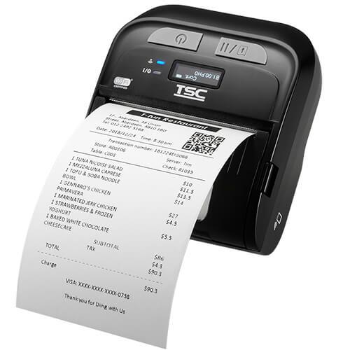 TSC TDM-30 Mobile Thermal Printer, 203 dpi, BT, LCD, Dock Cradle Ready