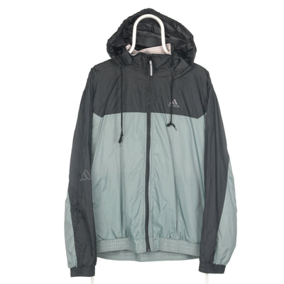 Grey Adidas Waterproof with Hood Windbreaker - Large