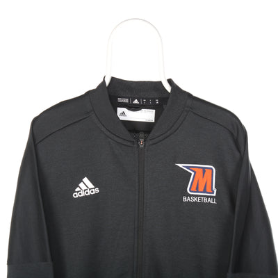 Black Adidas Zipped Basketball Sweatshirt - Large