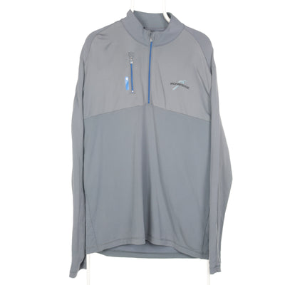 Grey Adidas Quarter Zip Sweatshirt - Large