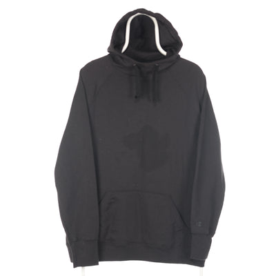Black Champion Embroidered Sleeve Hoodie - XLarge