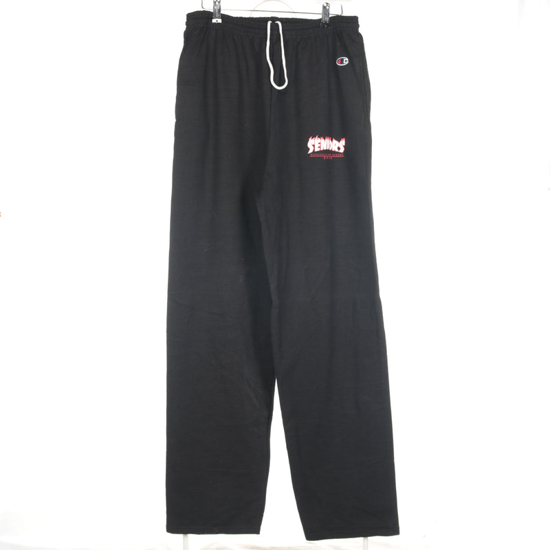 Black Champion College Jogging Bottoms - Large