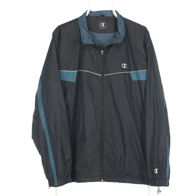 Black Champion Full Zip Windbreaker - XLarge
