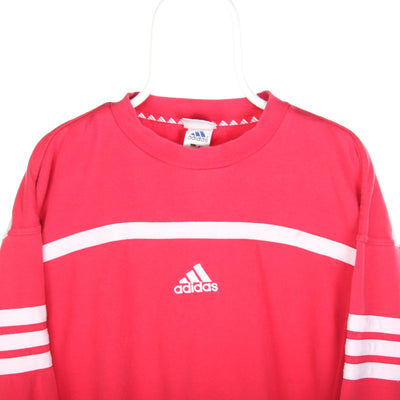 Red Adidas Middle Logo Sweatshirt - Large