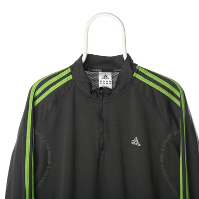 Grey Adidas Quarter Zip Sweatshirt - XLarge