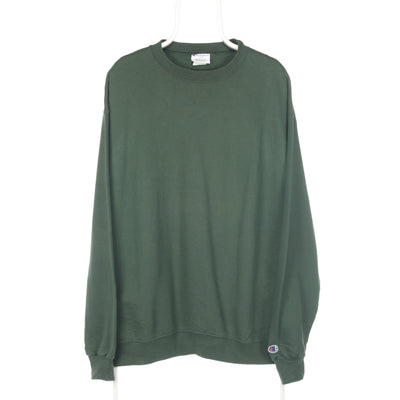 Green Champion Embroidered Sleeve Sweatshirt - XLarge