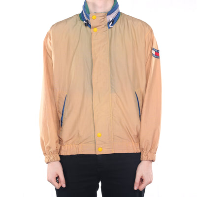 Tommy Hilfiger - Brown Embroidered Windbreaker with Hood - Medium