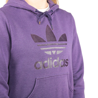 Adidas - Purple Embroidered Hoodie - Medium