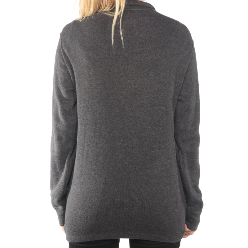 Ralph Lauren - Grey Quarter Zip Embroidered Jumper - Large