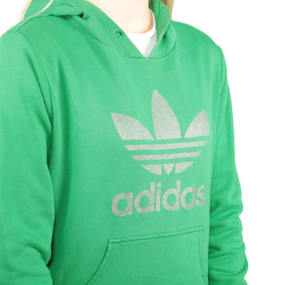 Adidas - Green Embroidered Hoodie - Large