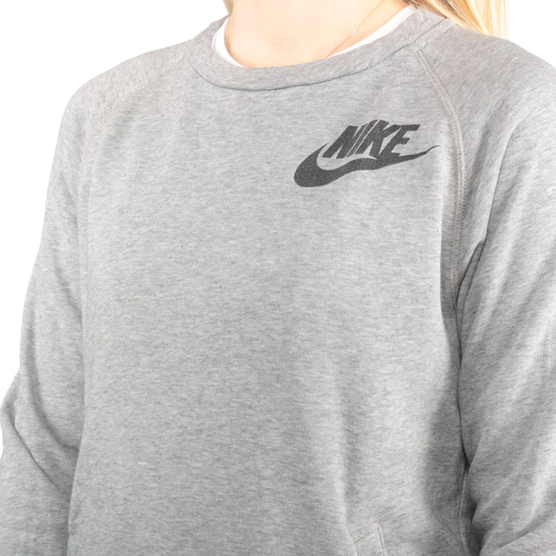 Nike - Grey Printed Spellout Sweatshirt - Small