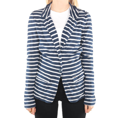 Tommy Hilfiger - Blue and White Striped Blazer - Medium