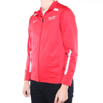Nike - Red Embroidered Zipped Sweatshirt - Small