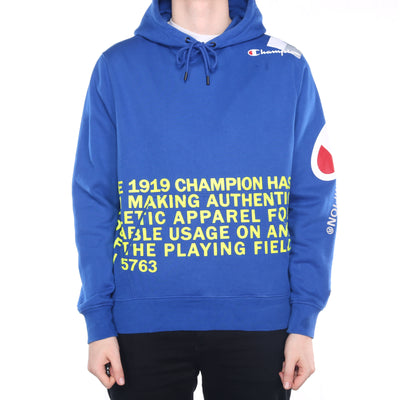 Champion - Blue Graphic Hoodie - Large