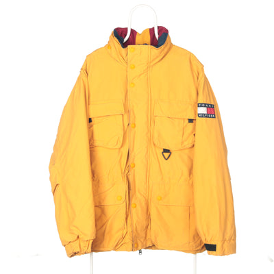 Yellow Tommy Hilfiger Full Zip Puffer Jacket - Large