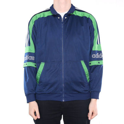 Adidas - Navy Embroidered Tracksuit Top Jacket - Medium