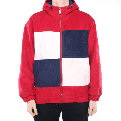 Tommy Hilfiger - Rare Red and White Fleece with Hood - Medium