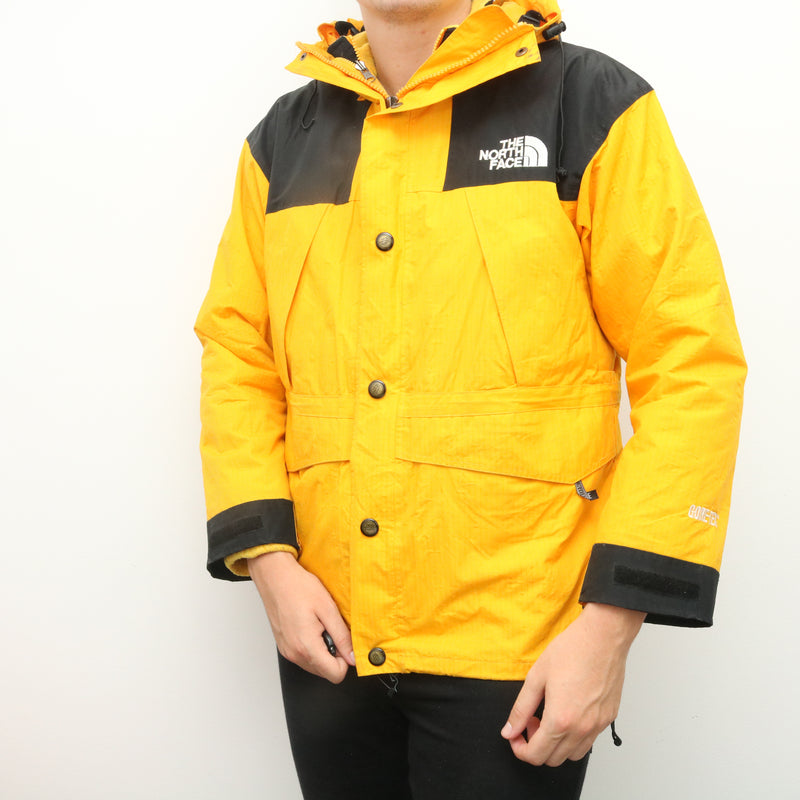 The North Face - Yellow and Gore-Tex Hooded Windbreaker Jacket - Small