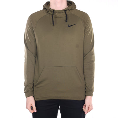 Nike - Green Embroidered Hoodie - Large
