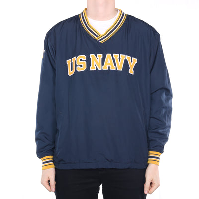 Champion - Navy Embroidered US NAVY Windbreaker - Large