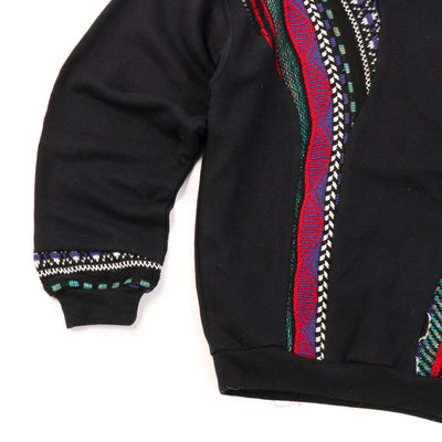 Nike - Black Embroidered Swoosh Hoodie - XLarge