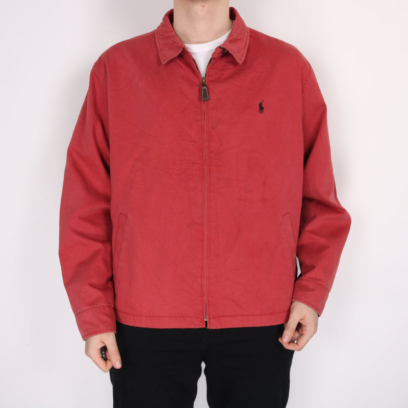 Ralph Lauren - Red Embroidered Harrington Jacket - XXLarge