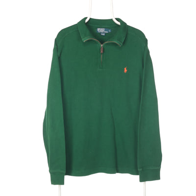Green Ralph Lauren Quarter Zip Jumper - Large