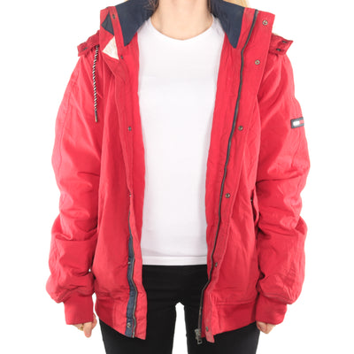 Tommy Hilfiger - Red Embroidered Padded Windbreaker - Large