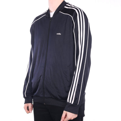 Adidas - Black Zipped Tracksuit Top Jacket - Large