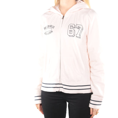 Ralph Lauren - Pink Printed Zip Up Hoodie - Large