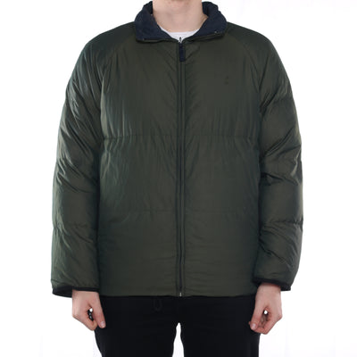 Nautica - Blue and Green Reversible Puffer Jacket - Large